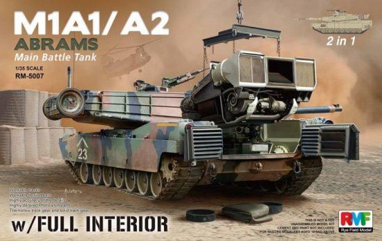 Rye Field Model M1A1/ A2 Abrams w/Full Interior 2 in 1 makett