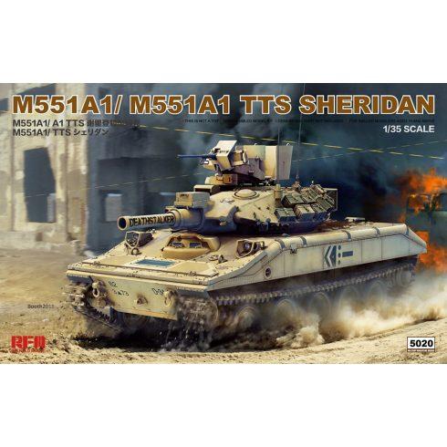 Rye Field Model M551 Sheridan A1/A1 (TTS) 2 in 1 makett