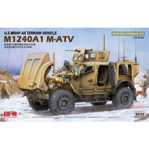 Rye Field Model U.S MRAP All Terrain Vehicle M1240A1 M-ATV makett