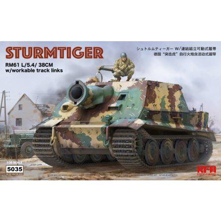 Rye Field Model Sturmtiger RM61 L/5.4/38cm w/workable makett