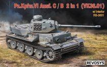 Rye Field Revosys Pz.Kpfw.VI Ausf. C/B 2 in 1 (VK36.01) w/ Interior makett