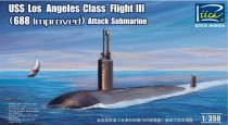 Riich Models USS Los Angeles Class Flight III (688 improved) SSN makett