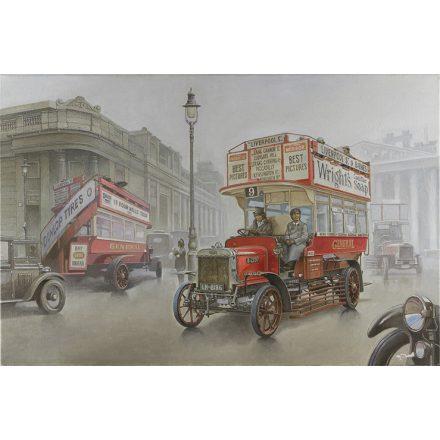 Roden Type B Bus, LGOC, London, Early 1914 makett