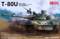 RPG Russian Main Battle Tank T-80U makett
