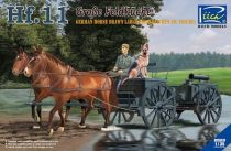 Riich Models German Horses Drawn Large Field Kitchen Hf.11 makett