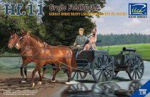 Riich Models German Horses Drawn Large Field Kitchen Hf.11 makett