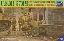 Riich Models US M1 57mm Anti-Tank Gun (Early Version) on M1A3 Carriage makett