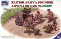 Riich Models British Army 6 Pounder Infantry Anti-tank Gun with Crew makett