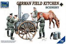 Riich Models German Field Kitchen with Soldiers makett