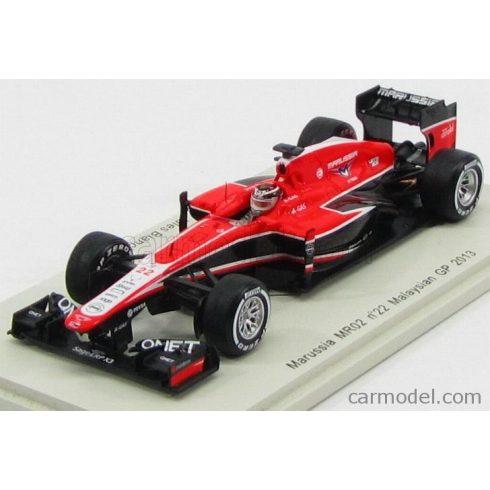 SPARK-MODEL MARUSSIA F1 MR02 N 22 GP MALAYSIAN 2013 J.BIANCHI