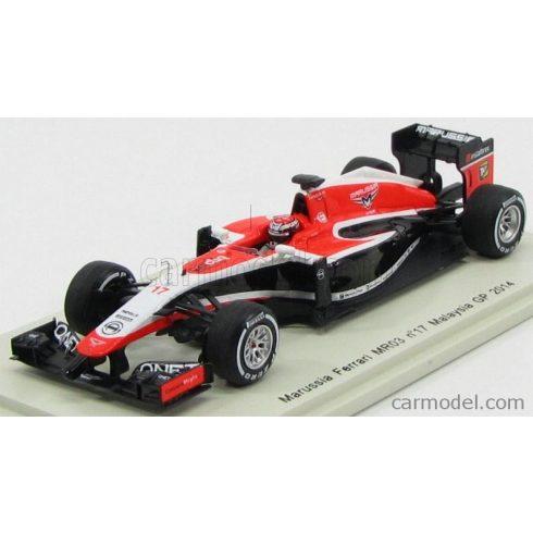 SPARK-MODEL MARUSSIA F1 MR03 N 17 GP MALAYSIAN 2014 JULES BIANCHI