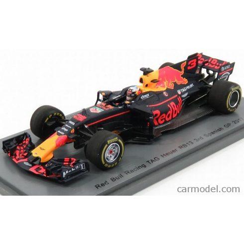 SPARK-MODEL RED BULL F1 RB13 TAG HEUER N 3 SPANISH GP 2017 DANIEL RICCIARDO