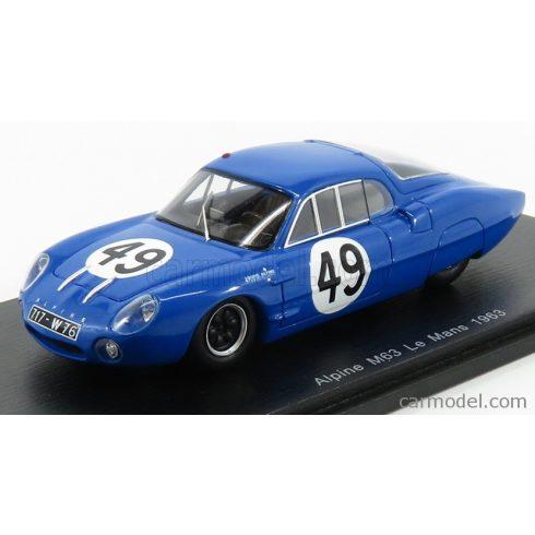 SPARK-MODEL Renault ALPINE M63 N 49 24h LE MANS 1963 R.RICHARD - P.FRESCOBALDI