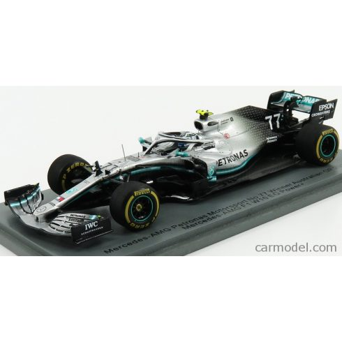 SPARK-MODEL MERCEDES F1 W10 EQ POWER+ TEAM AMG PETRONAS MOTORSPORT N 77 SEASON 2019 V.BOTTAS