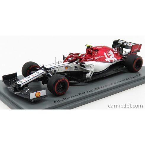 SPARK-MODEL SAUBER F1 C38 TEAM ALFA ROMEO RACING N 99 AUSTRALIAN GP 2019 A.GIOVINAZZI