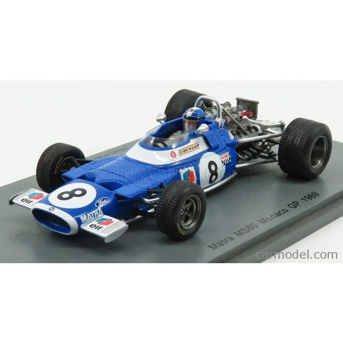 SPARK-MODEL MATRA F1 MS80 N 8 MONACO GP 1969 J.P.BELTOISE