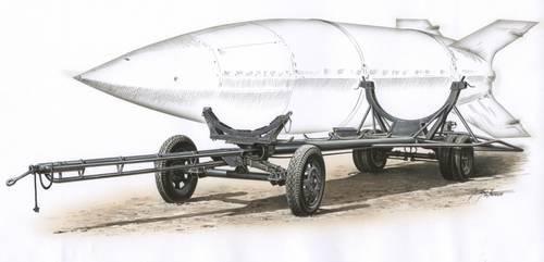 Special Hobby Vidalwagen Street V-2 Transporter makett