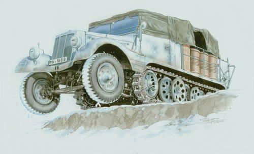 Special Hobby Sd.Kfz. 11/2 Entgiftungskraftwagen makett
