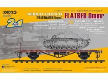 Sabre German Railway Flatbed Ommr (2db) makett