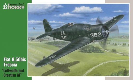 Special Hobby Fiat G.50bis Luftwaffe+Croatian AF makett