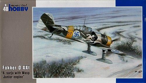 Special Hobby Fokker D.XXI 4. Sarja with Wasp Junior Engine makett