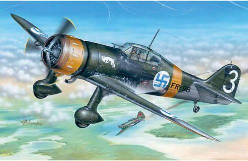 Special Hobby Fokker D.XXI 3. Sarja with Mercury engine makett