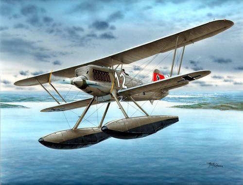 "Special Hobby Heinkel He 51B-2 ""Float Fighter"" makett"