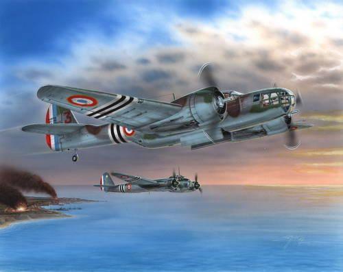 """Special Hobby Model 167F """"Glenn over French 1940/45"""" makett"""
