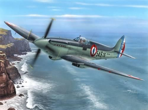 "Special Hobby Seafire Mk.15 ""Aeronavale Service"" makett"