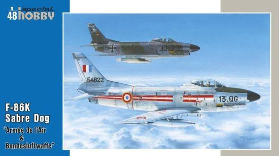 Special Hobby F-86K Armés de l'Air & Bundesluftwaffe makett