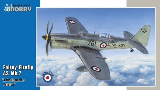 Special Hobby Fairey Firefly AS Mk.7 Antisubmarine Vs. makett