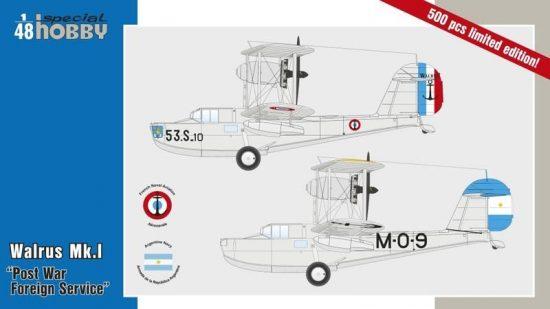 Special Hobby Walrus Mk.I Post War Foreign Service makett