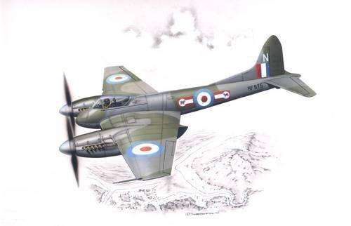 Special Hobby De Havilland DH. 103 Hornet F. MK. 3/4 makett