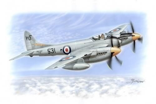 Special Hobby De Havilland DH 103 Sea Hornet makett