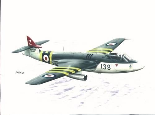Special Hobby Hawker Sea Hawk FB Mk.3/FGA Mk.50 with AIM9 makett
