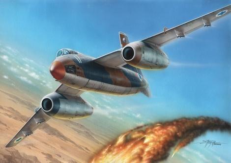 "Special Hobby Vautour IIA ""IDF Attack Bomber"" makett"