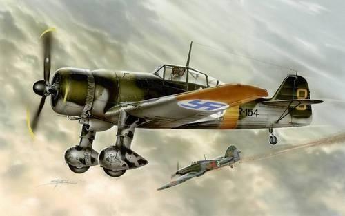 Special Hobby Fokker D.XXI 4. Sarja Slots Less Wing makett