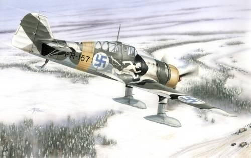 Special Hobby Fokker D.XXI 4 sarja Wing with slots makett