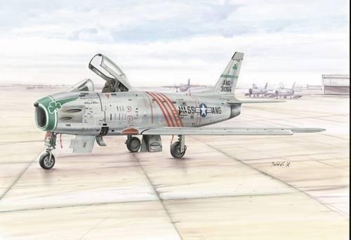 Special Hobby North American F-86H Sabre Hog ANG makett