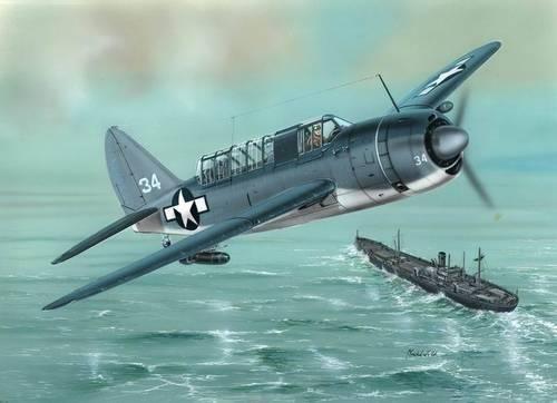 Special Hobby SB2A-3 Buccaneer US Navy Bomber makett