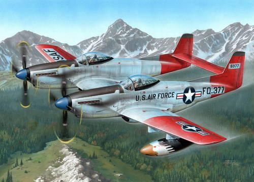 "Special Hobby F-82H TwinMustang ""Alas. All Weather F."" makett"