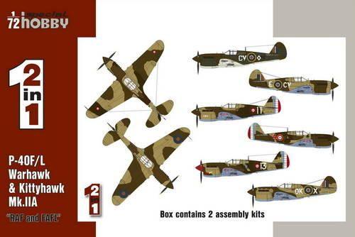 """Special Hobby P-40F/L & Kittyhawk Mk.IIA """"RAF&FAFL"""" makett"""