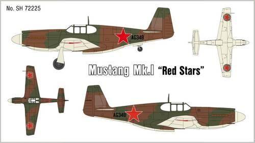 Special Hobby Mustang Mk.1 Red Stars makett