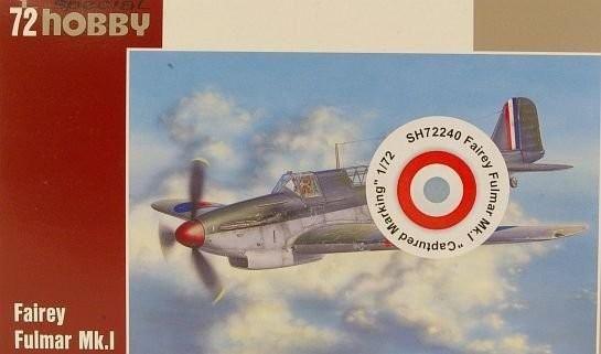 Special Hobby Fairey Fulmar Mk.I Captured Marking makett