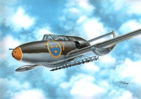 """Special Hobby SAAB A-21R """"Attack Version"""" makett"""