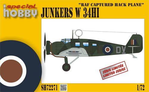 Special Hobby Junkers W-34Hi RAF Captured Hack Plane makett