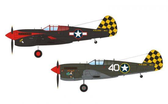 "Special Hobby P-40F/L Warhawk ""Checkertails"" makett"