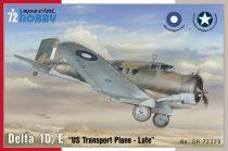 Special Hobby Delta 1D/E US Transport plane makett