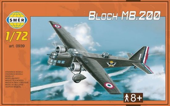 Smer Bloch MB.200 makett