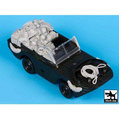 Black Dog Ford G.P.A Amphibian accessories set for Tamiya